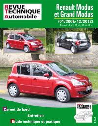 Revue technique automobile. n° B775, Renault Modus phase 2 1.5 DCI 85 CH