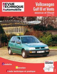 Revue technique automobile. n° 720.2, VW Golf et Vento (92-96)