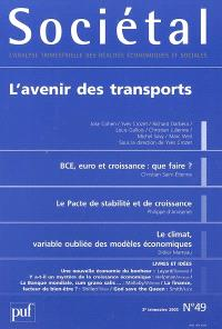 Sociétal. n° 49, L'avenir des transports