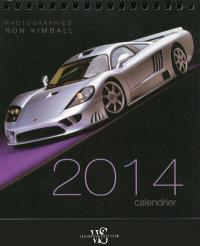 Calendrier de table : automobiles 2014