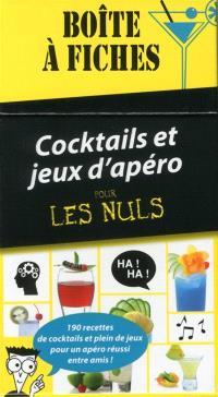 Cocktails et jeux d'apéro pour les nuls : boîte à fiches : 190 recettes de cocktails et plein de jeux pour un apéro réussi entre amis