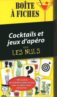 Cocktails et jeux d'apéro pour les nuls : boîte à fiches : 190 recettes de cocktails et plein de jeux pour un apéro réussi entre amis !