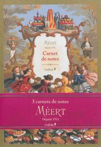 Carnet de notes Méert : depuis 1761 : format A5