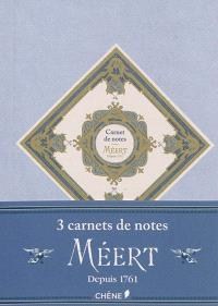 Carnet de notes Méert : depuis 1761 : format A6
