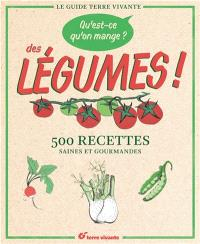 Qu'est-ce qu'on mange ? : des légumes ! : 500 recettes saines et gourmandes