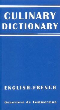 Culinary dictionary : english-french