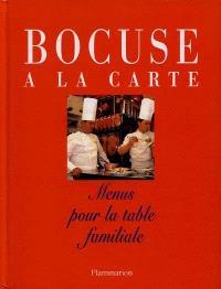 Bocuse à la carte : menus pour la table familiale