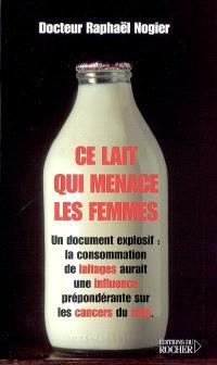 Ce lait qui menace les femmes : un document explosif : la consommation de laitages aurait une influence prépondérante sur les cancers du sein
