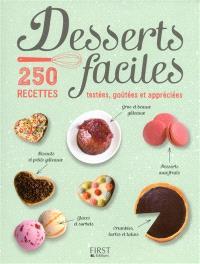 Desserts faciles : 250 recettes testées, goûtées et appréciées