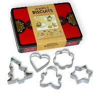 La boîte à biscuits : le livre des meilleures recettes + 5 grands emporte-pièce festifs
