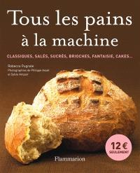 Tous les pains à la machine : classiques, salés, sucrés, brioches, fantaisie, cakes...