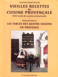 Vieilles recettes de cuisine provençale; Vieii receto de cousino prouvençalo. Les tables des quatre saisons en Provence; Taulo di quatre sesoun en Prouvenço