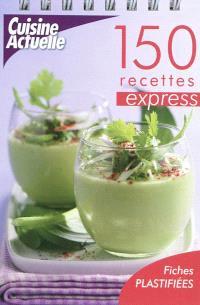 150 recettes express : fiches plastifiées