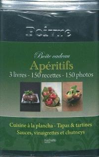 Apéritifs : boîte cadeau : 3 livres, 150 recettes, 150 photos