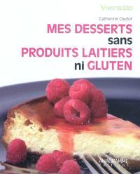 Desserts sans produits laitiers ni gluten