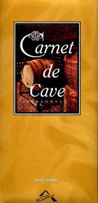 Carnet de cave personnel