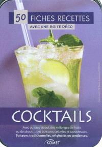 Cocktails : 50 fiches recettes avec une boîte déco