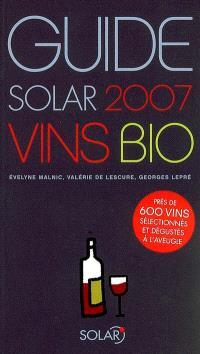 Guide Solar des vins bio 2007