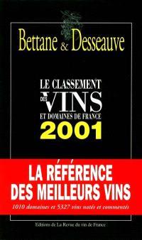 Le classement 2001 des vins et domaines de France