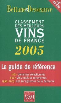 Le classement 2005 des meilleurs vins de France