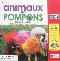 Animaux en pompons : faciles à réaliser : 12 adorables animaux en pompons à réaliser !