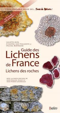 Guide des lichens de France, Lichens des roches