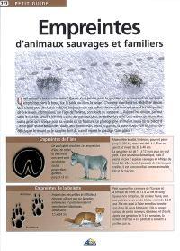 Empreintes d'animaux sauvages et familiers