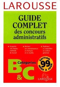 Concours administratifs : catégories B et C