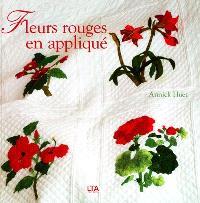Fleurs rouges en appliqué