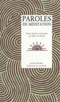 Paroles de méditation