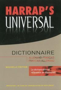 Harrap's universal : dictionnaire allemand-français, français-allemand