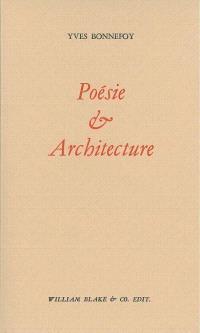 Poésie et architecture; Suivi de L'apport d'un poème à Callimaque