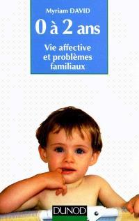 L'Enfant de 0 à 2 ans : vie affective, problèmes familiaux