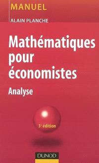 Mathématiques pour économistes : analyse