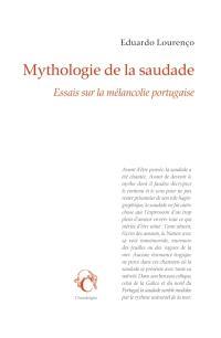 Mythologie de la saudade : essais sur la mélancolie portugaise