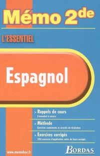 Espagnol : rappels de cours, méthode, exercices corrigés
