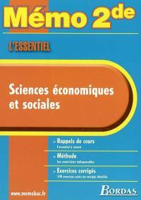 Sciences économiques et sociales : rappels de cours, méthode, exercices corrigés