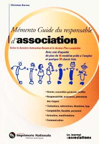 Memento guide du responsable d'association