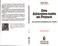 Des Africains noirs en France : des tirailleurs sénégalais aux... Blacks