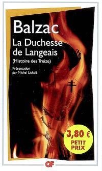 Histoire des Treize, La duchesse de Langeais