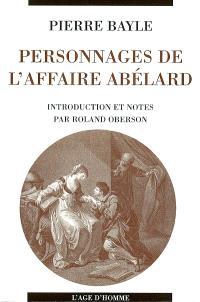 Personnages de l'affaire Abélard et considérations sur les obscénités