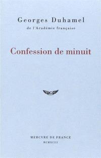 Vie et aventures de Salavin. Volume 1, Confession de minuit