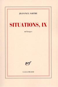 Situations. Volume 9, Mélanges