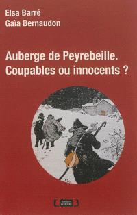 Auberge de Peyrebeille : coupables ou innocents ? : essai