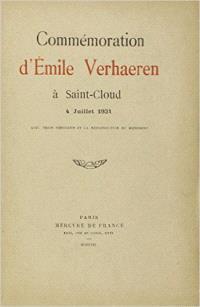 Commémoration d'Emile Verhaeren à Saint-Cloud : 4 juillet 1931