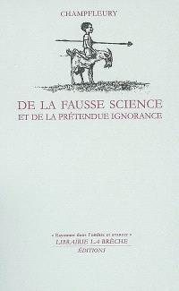 De la fausse science et de la prétendue ignorance