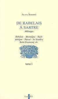 De Rabelais à Sartre : mélanges