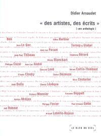 Des artistes, des écrits : une anthologie