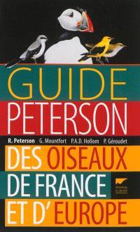 Guide Peterson des oiseaux de France et d'Europe