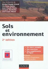 Sols et environnement : un cours complet, des exercices, des suppléments en ligne